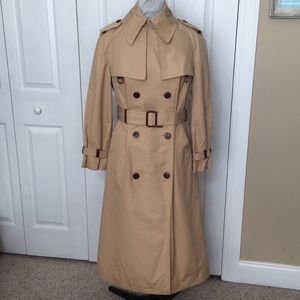 Etienne Aigner Long Trench Belt Leather Buttons XL